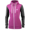 Mons Royale W's Mid Hit Hoody Contrast Charcoal / Fushia